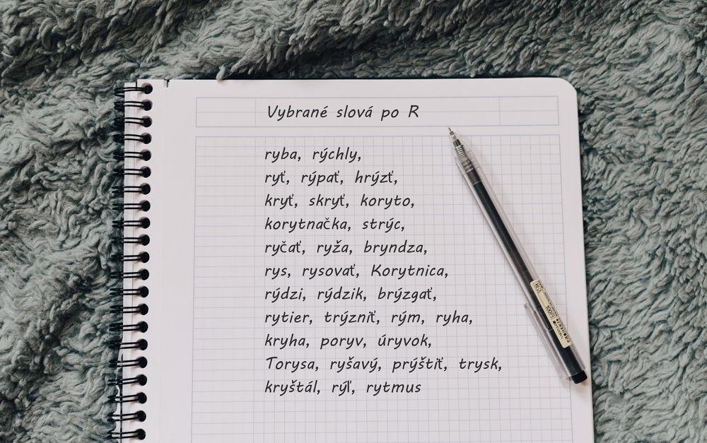 Vybrané slová po R