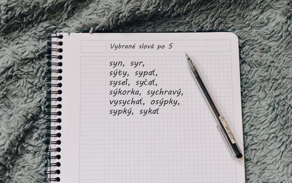 Vybrané slová po S