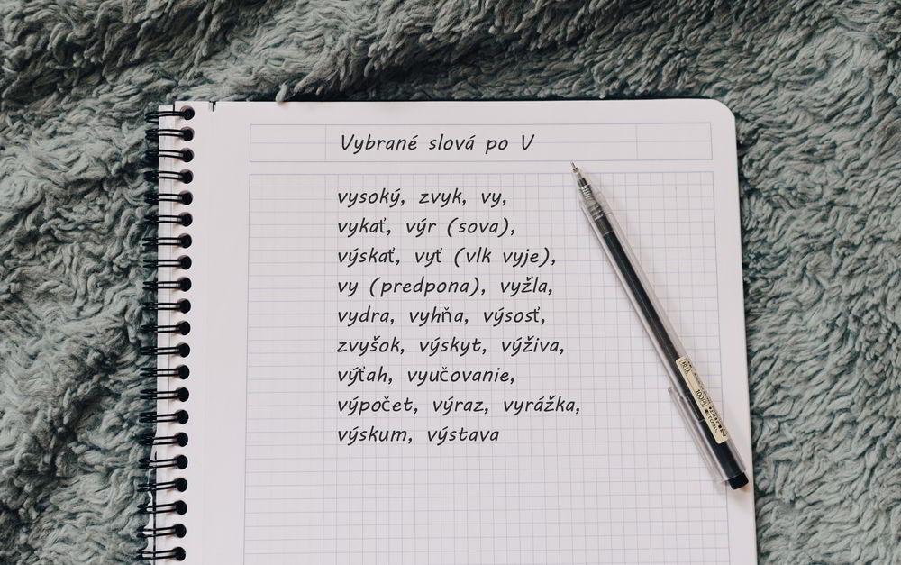 Vybrané slová po V