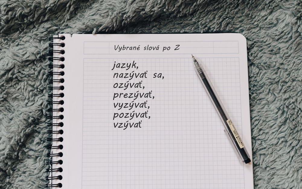 Vybrané slová po Z